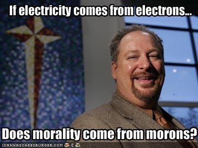 If electricity comes from electrons...