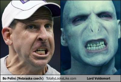 Bo Pelini (Nebraska coach) Totally Looks Like Lord Voldemort