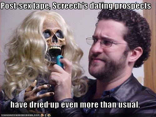 Post-sex tape, Screech's dating prospects have dried up even more than usual ...
