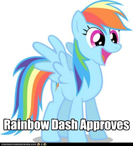 Rainbow dash approves