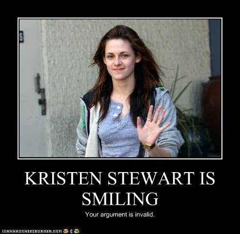 Kristen Stewart Smiling on Kristen Stewart Is Smiling   Cheezburger