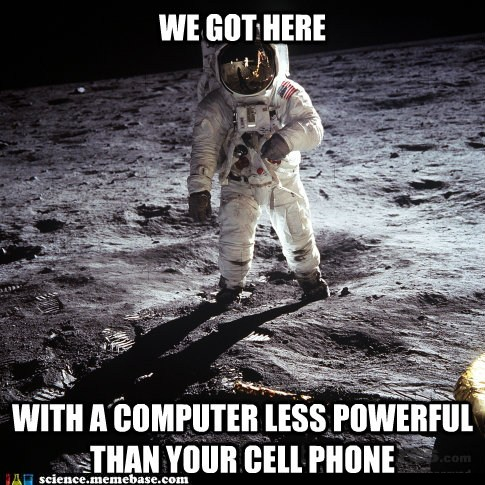 funny science news experiments memes - One small iphone for a man...