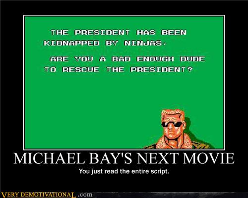 MICHAEL BAY'S NEXT MOVIE