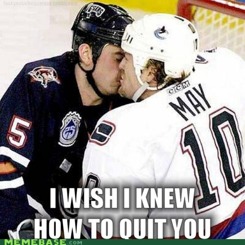 Hockey's Gay, Eh? Submitted by: Unknown (via F Yeah Albuquerks)