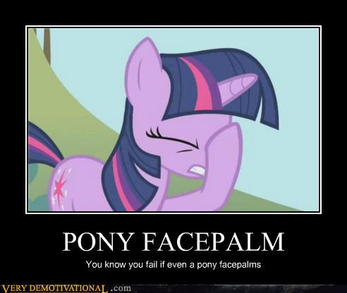 my little pony facepalm 