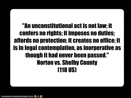 an unconstitutional act creates no office