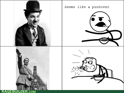 Chaplin/Hitler Cereal Guy