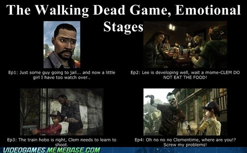 The Walking Dead Emotional Progression