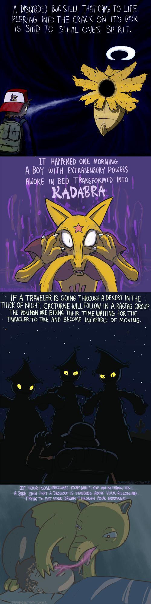 Creepy Pokédex Entries