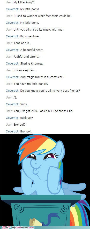 Cleverbot is a Brony