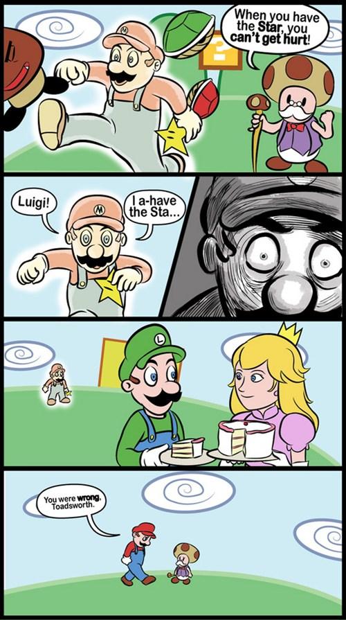 Luigi scores?? 0.0