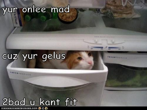 yur onlee mad cuz yur gelus 2bad u kant fit