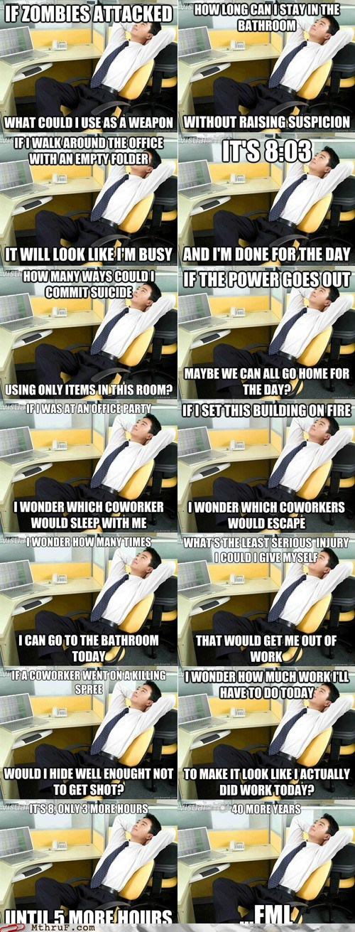 DnhinYRyKk 4cbVLB0UZHQ2 Monday Thru Friday: You Are Now Thinking Like Office Thoughts Guy Funny Picture