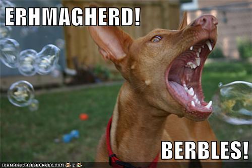 ERHMAGHERD!  BERBLES!