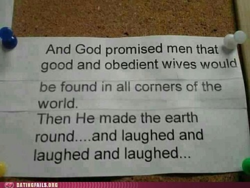 God has a sense of humour