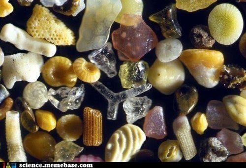 Microscopic View of Sand