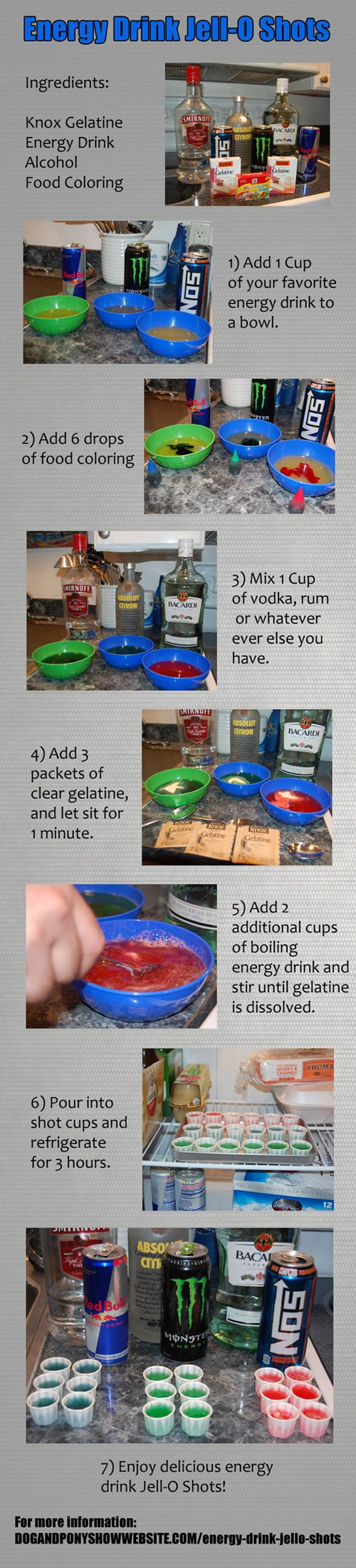 How To Make Red Bull Jell-O Shots of the Day