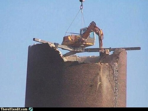 Demolishing a Chimney