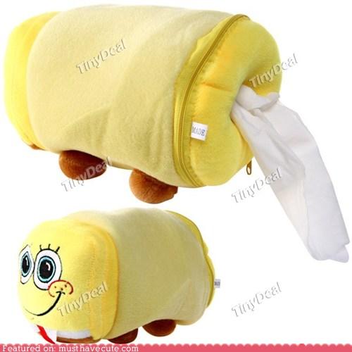 SpongeBob Plush Tissue Paper Holder