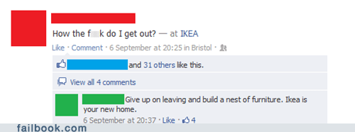 Failbook: One Does Not Simply Walk Out of Ikea…