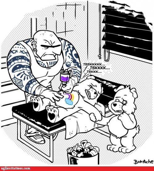 Ugliest Tattoos: So THAT'S How Care Bears Get Their Belly Art