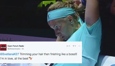 This Tennis Player Cut Her Hair in the Middle of a Match, and the Internet Can't Even Handle It