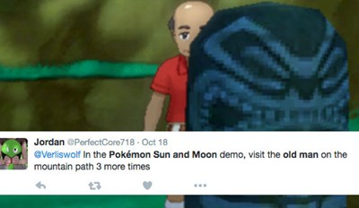 Pokémon Sun and Moon Players Are Completely Obsessing over the Game's Mysterious Old Man