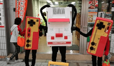 Call off Halloween in Japan, Cause This Famicom Costume Already Won