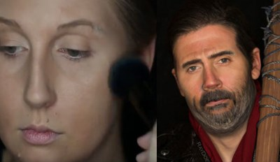 Makeup Artist Uses Some Kind of Dark Magic to Transform Herself Into Negan From The Walking Dead