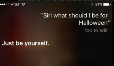 Don't Ask Siri for Help on Deciding a Halloween Costume
