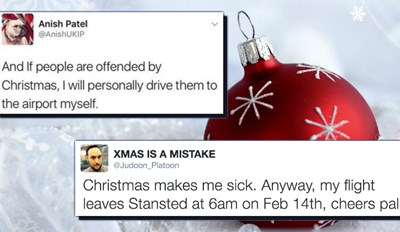 Everyone Wants This Man to Drive Them to the Airport After an Angry Christmas Tweet