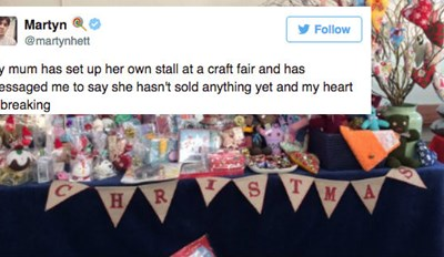 When No One Bought This Mom's Holiday Crafts, People on Twitter Stepped up in the Best Way Possible
