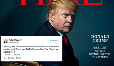TIME Names Donald Trump 'Person of the Year' and People on Twitter Don't Seem to Know What to Do with Themselves