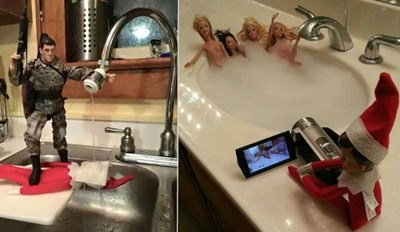 Elf on a Shelf Didn't Stand a Chance Against These Creatively-Dark Dads