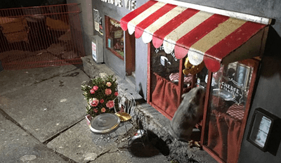 An Artist in Sweden Has Created a Tiny Sidewalk Bistro for Mice and the Attention to Detail Is Incredible