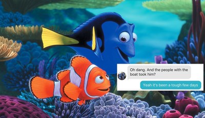 Clever Girl Baits and Hooks Tinder Match On Believing Her Brother Was Taken Hostage By Using 'Finding Nemo' Plot