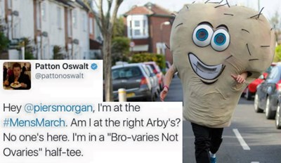 Patton Oswalt and Piers Morgan Plan a 'Men's March' and Things Get Absolutely and Hilariously Savage