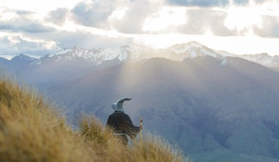 This Photographer Traveled Around New Zealand Taking Majestic Photos Dressed as Gandalf