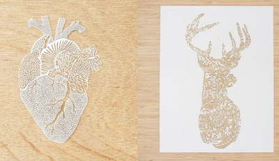 These Hand-Cut Organs, Animals, and Plants Are Beautiful Works of Art