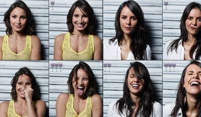 Photographer Takes Photos of People Before and After Three Glasses of Wine and Proves That 'Happy Hour' is Aptly Named