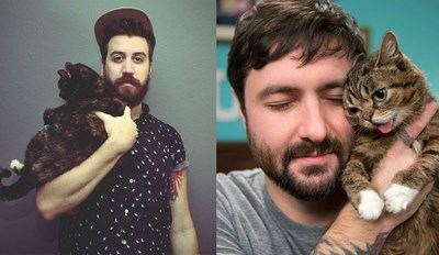 25 Guys With Beards Posing Next to Their Cats for Your Viewing Pleasure