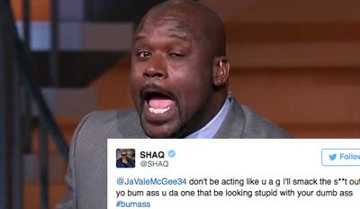 Shaq Tells JaVale McGee 'I'll Smack The S**t Out Yo Bum Ass', Instantly Igniting Hilarious Twitter RageFest