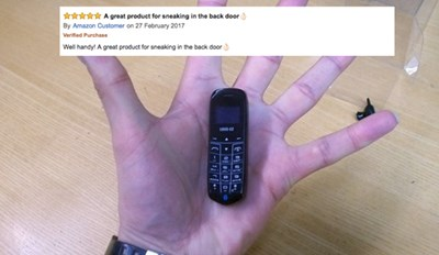 The Reviews Are In! This Tiny Phone Sold On Amazon Fits Snuggly In Your Butt and Is Perfect for Prison