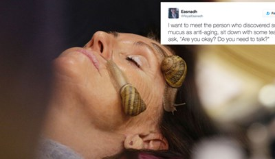 People Are Getting Snail Facials, Which Sounds About Right for 2017