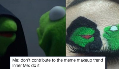People Drawing Memes on Their Eyelids Is Our New Fav Makeup Trend