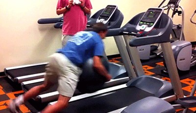 Watch 15 People Who Have No Idea How to Use a Treadmill in these Hilarious Exercise Fail Gifs