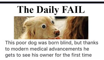 The Daily FAIL: Open Those Eyes