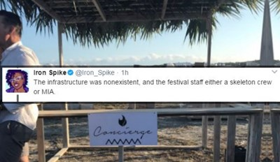 Woman Live Tweets Hilarious Account of the Train Wreck That Was 'Fyre Festival'