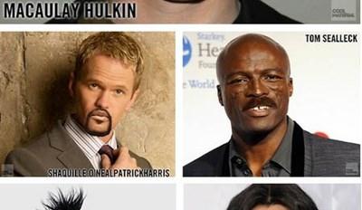 Celebrity Mustache Mash-Ups