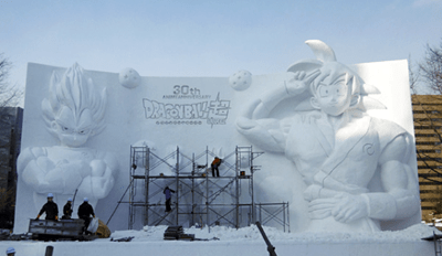 This Year's Snow Festival in Sapporo, Japan Features a Huge Dragon Ball Mural